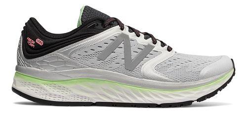 Womens New Balance Fresh Foam 1080v8 Running Shoe - White/Green 6.5
