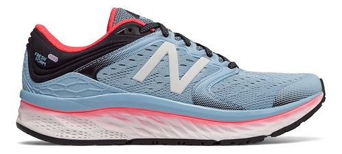Womens New Balance Fresh Foam 1080v8 Running Shoe - Sky/Coral 10.5