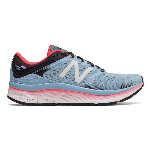 Womens New Balance Fresh Foam 1080v8 Running Shoe - Sky/Coral 9