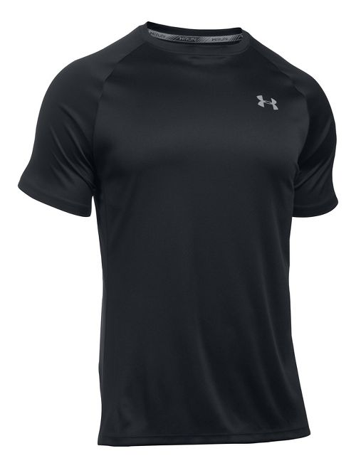 Mens Under Armour Speed Stride Short Sleeve Technical Tops - Black M