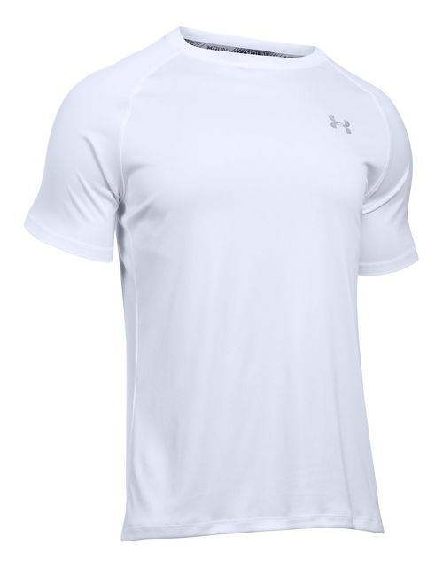 Mens Under Armour Speed Stride Short Sleeve Technical Tops - White L