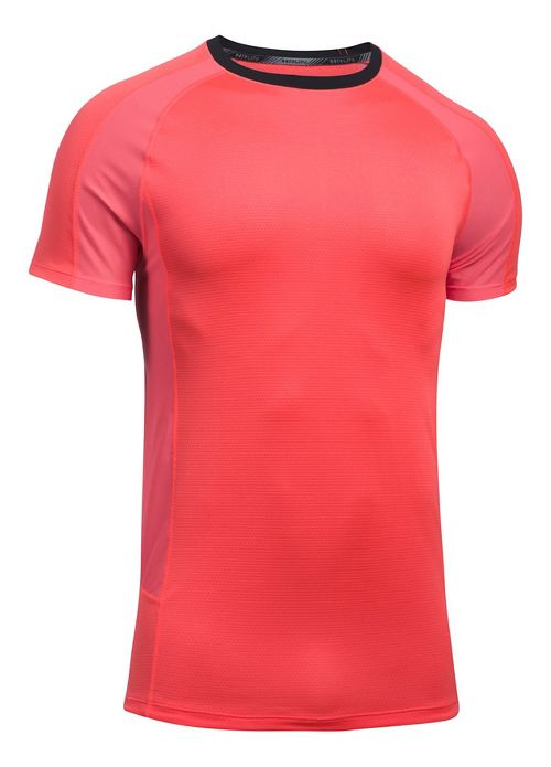 Mens Under Armour Speed To Burn Tee Short Sleeve Technical Tops - Marathon Red S ...
