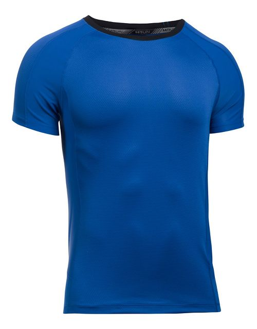 Mens Under Armour Speed To Burn Tee Short Sleeve Technical Tops - Lapis Blue L