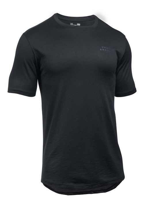 Mens Under Armour Sportstyle Core Tee Short Sleeve Technical Tops - Black XL