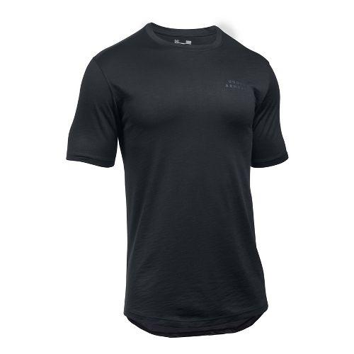 Mens Under Armour Sportstyle Core Tee Short Sleeve Technical Tops - Black XXL