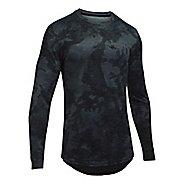 Mens Under Armour Sportstyle Graphic Tee Long Sleeve Technical Tops - Asphalt Heather XL