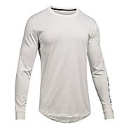 Mens Under Armour Sportstyle Graphic Tee Long Sleeve Technical Tops - Ivory XL