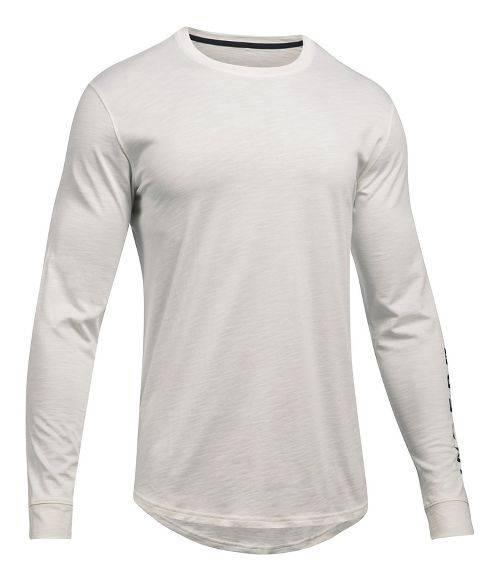 Mens Under Armour Sportstyle Graphic Tee Long Sleeve Technical Tops - Ivory L