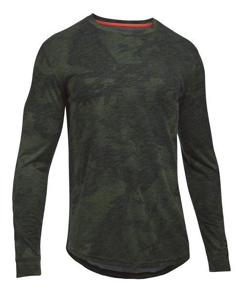 Mens Under Armour Sportstyle Graphic Tee Long Sleeve Technical Tops - Artillery Green S