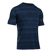 Mens Under Armour Threadborne Black Twist Short Sleeve Technical Tops