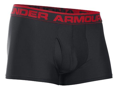 Mens Under Armour The Original 3'' BoxerJock Boxer Brief Underwear Bottoms - Black 3XL