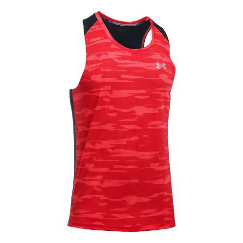Mens Under Armour Threadborne Run Mesh Singlet Sleeveless & Tank Tops Technical Tops - Marathon ...
