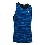 Mens Under Armour Threadborne Run Mesh Singlet Sleeveless & Tank Tops Technical Tops