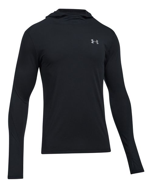 Mens Under Armour Threadborne Run Mesh Half-Zips & Hoodies Technical Tops - Black XXL