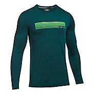 Mens Under Armour Run Graphic Long Sleeve Technical Tops