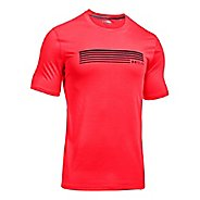 Mens Under Armour Run Graphic Short Sleeve Technical Tops