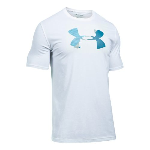 Mens Under Armour Glitch Logo Short Sleeve Technical Tops - White S
