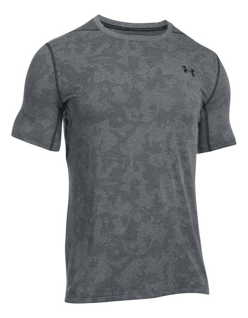 Mens Under Armour Threadborne Elite Fitted Short Sleeve Technical Tops - Black M