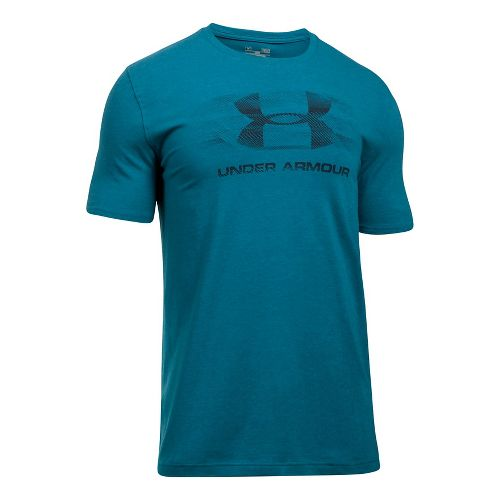 Mens Under Armour Tread On Sportstyle Short Sleeve Technical Tops - Black L
