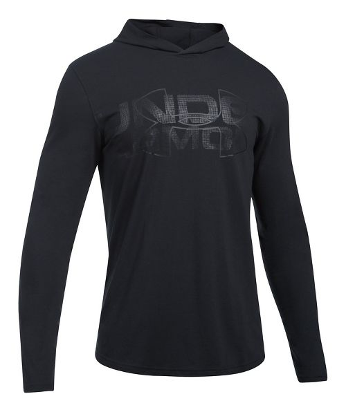 Mens Under Armour Sportstyle Stretch Half-Zips & Hoodies Technical Tops - Asphalt Heather M