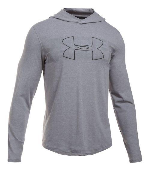 Mens Under Armour Sportstyle Stretch Half-Zips & Hoodies Technical Tops - Steel Light Heather XL