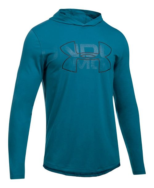 Mens Under Armour Sportstyle Stretch Half-Zips & Hoodies Technical Tops - Bayou Blue XL