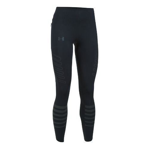 Mens Under Armour Storm Reflective Compression Tights - Black/Black S