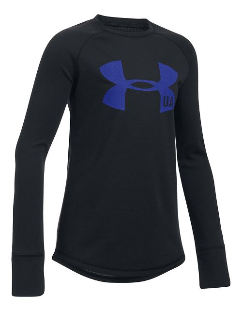 Under Armour Girls ColdGear Infrared Long Sleeve Technical Tops - Black YXS