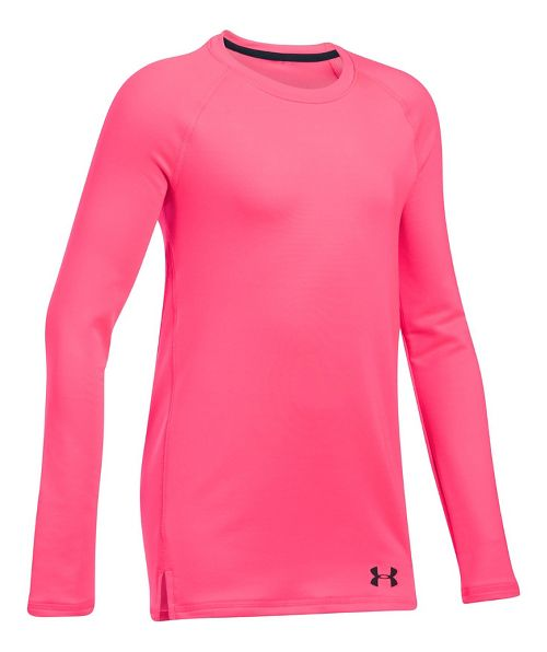 Under Armour ColdGear Crew Long Sleeve Technical Tops - Penta Pink YM