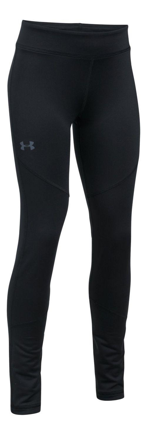 Under Armour Girls ColdGear Legging Tights - Black YXS