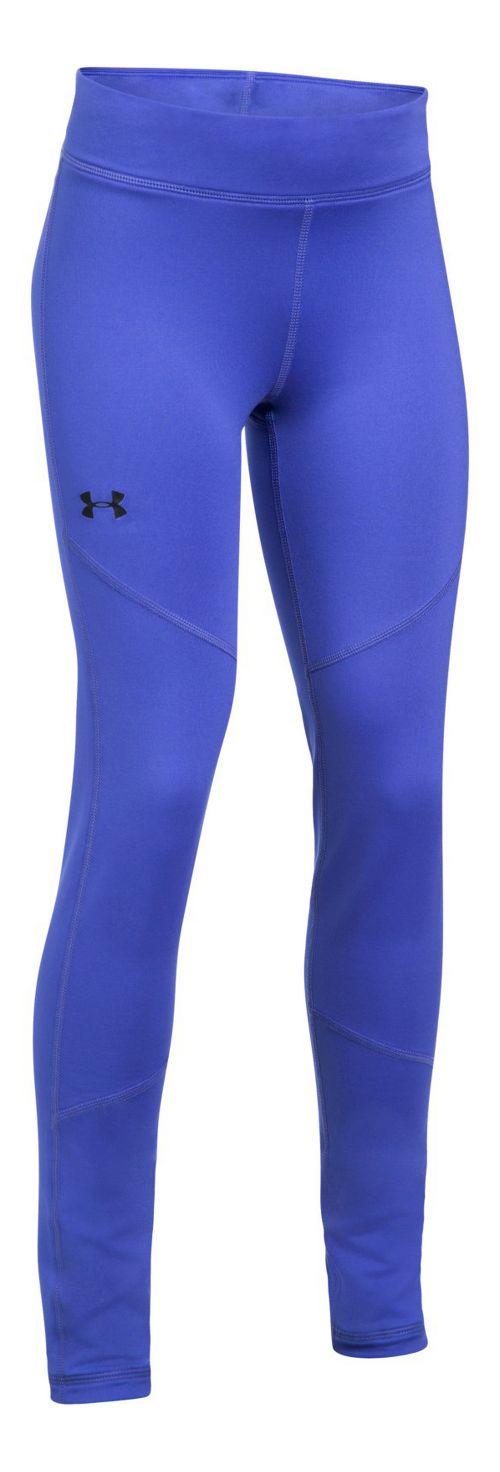 Under Armour ColdGear Legging  Tights - Purple/Blue YS