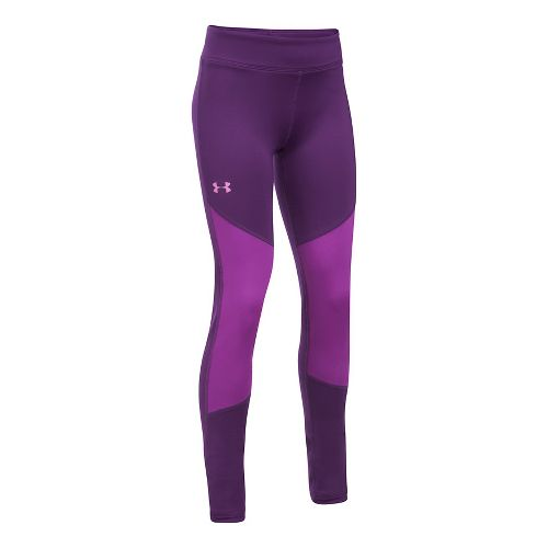 Under Armour Girls ColdGear Legging Tights - Purple Rave YXL