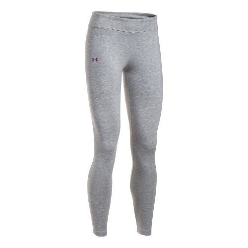 Under Armour Girls Favorite Knit Legging  Tights - Grey Heather YXL