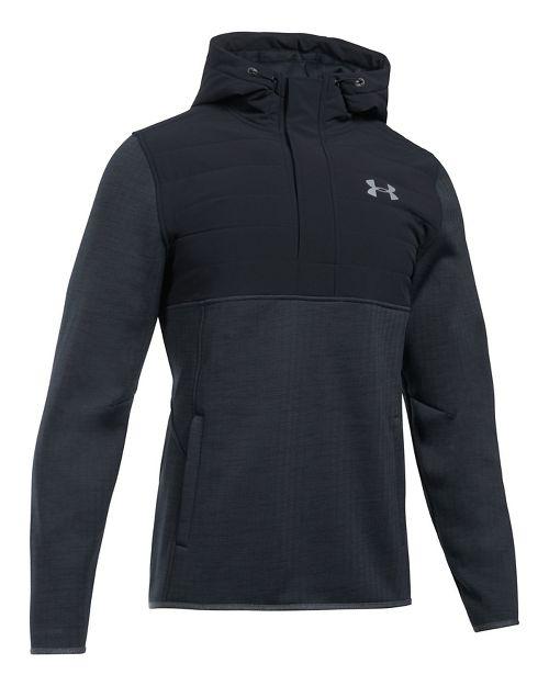 Mens Under Armour Swacket Henley Half-Zips & Hoodies Technical Tops - Black L