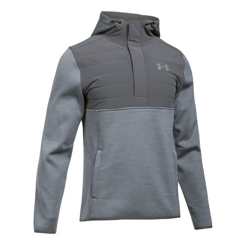 Mens Under Armour Swacket Henley Half-Zips & Hoodies Technical Tops - Steel/Graphite XL