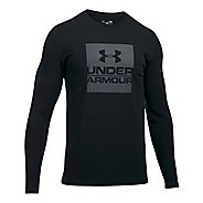 Mens Under Armour Boxed In Long Sleeve Technical Tops - Black XL