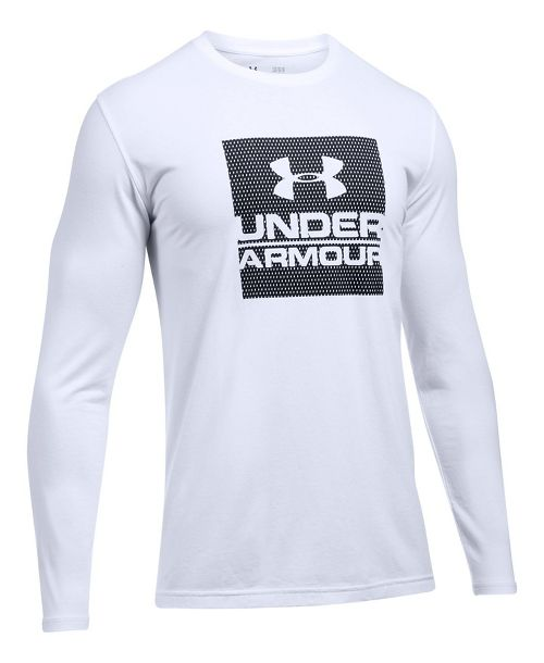 Mens Under Armour Boxed In Long Sleeve Technical Tops - White M