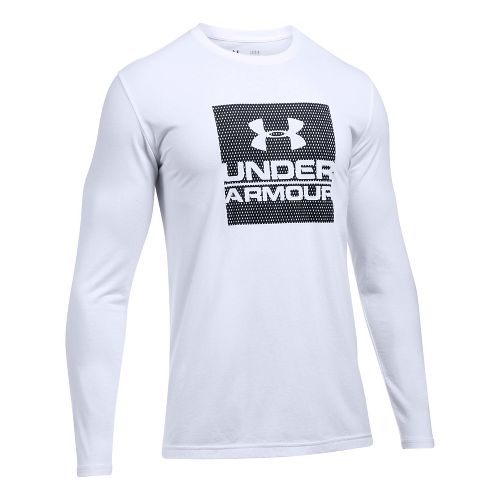 Mens Under Armour Boxed In Long Sleeve Technical Tops - White L