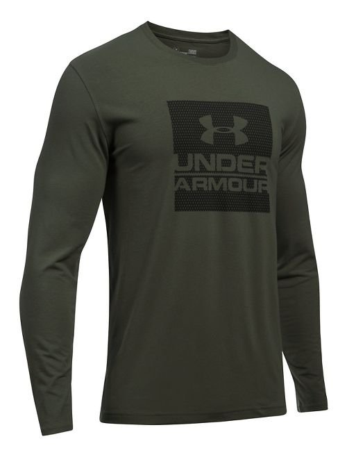 Mens Under Armour Boxed In Long Sleeve Technical Tops - Black S