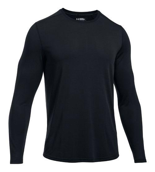 Mens Under Armour Threadborne Knit Long Sleeve Technical Tops - Black XL