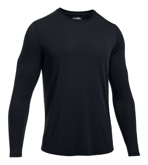 Mens Under Armour Threadborne Knit Long Sleeve Technical Tops - Black XXL
