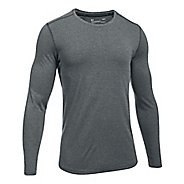 Mens Under Armour Threadborne Knit Long Sleeve Technical Tops - Anthracite S