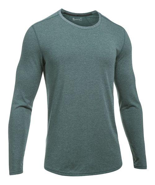 Mens Under Armour Threadborne Knit Long Sleeve Technical Tops - Arden Green L