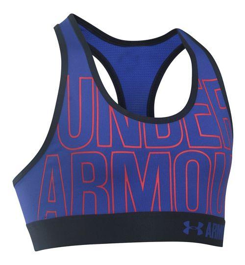 Under Armour Girls Graphic Armour Sports Bras - Purple/Blue YL