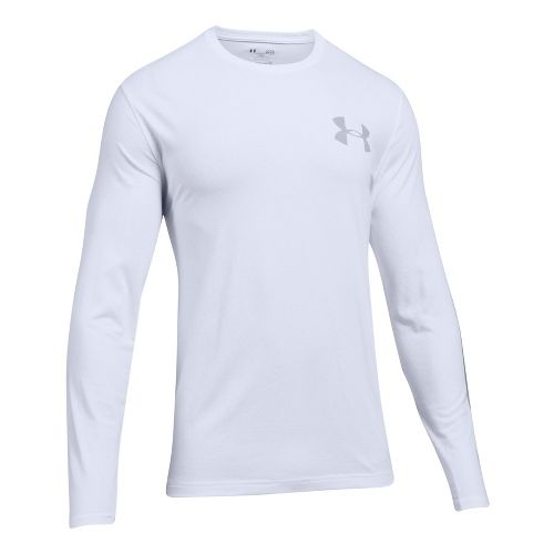 Mens Under Armour Sleeve Hit Long Sleeve Technical Tops - White M