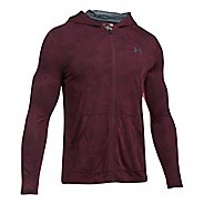 Mens Under Armour Threadborne Fitted Full-Zip Half-Zips & Hoodies Technical Tops