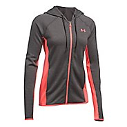 Womens Under Armour Fleece Full-Zip Crosshatch Running Jackets