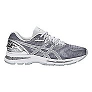 Mens ASICS GEL-Nimbus 20 Platinum Running Shoe - Carbon/Silver 10