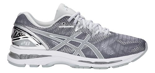 Mens ASICS GEL-Nimbus 20 Platinum Running Shoe - Carbon/Silver 10.5