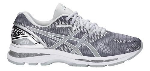 Mens ASICS GEL-Nimbus 20 Platinum Running Shoe - Carbon/Silver 14